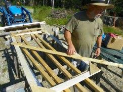 Building the chicken yard door