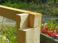 Lap joint used in coop framing