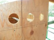 Vent holes drilled in side