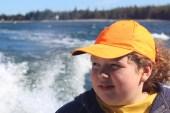 Hannah on the Narraguagus Bay Cruise