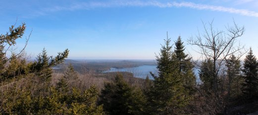 A panorama from the almost top of Catherine's Hill.