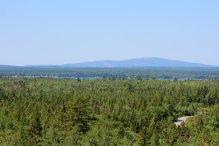 The view of Cadillac Mountain across Gouldsborough Bay.