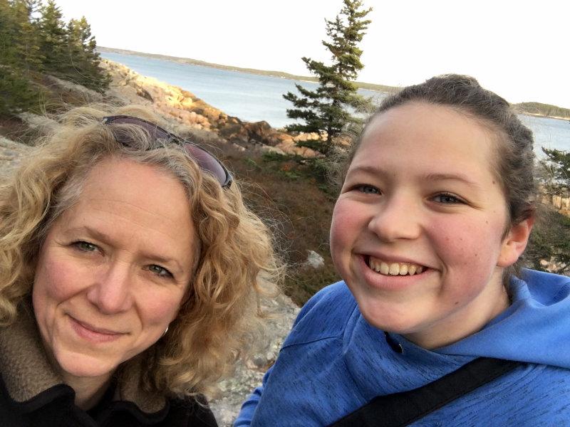 A final mother/daughter selfie