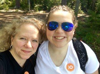 A woodland selfie