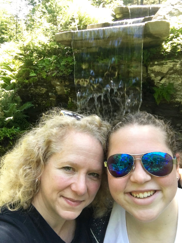 A waterfall selfie