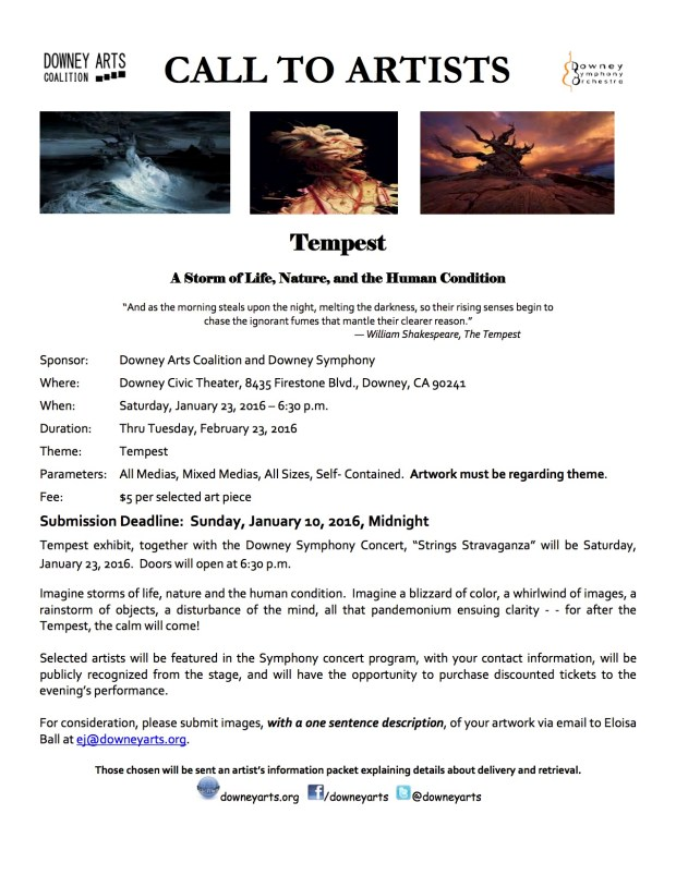 Call to Artist - Tempest