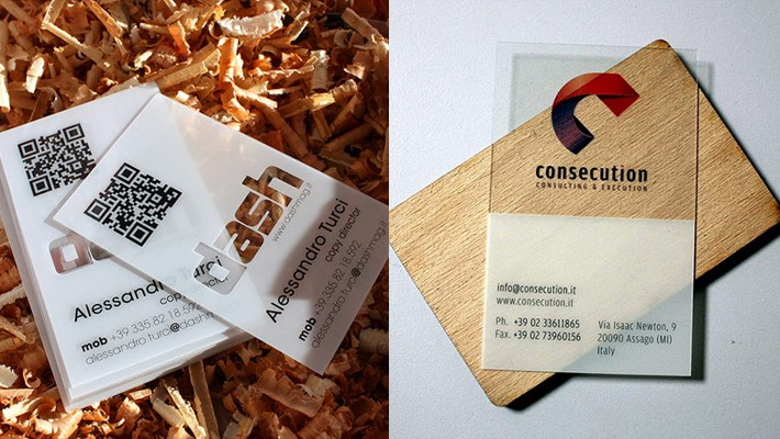 Clear & Attractive Transparent Business Cards