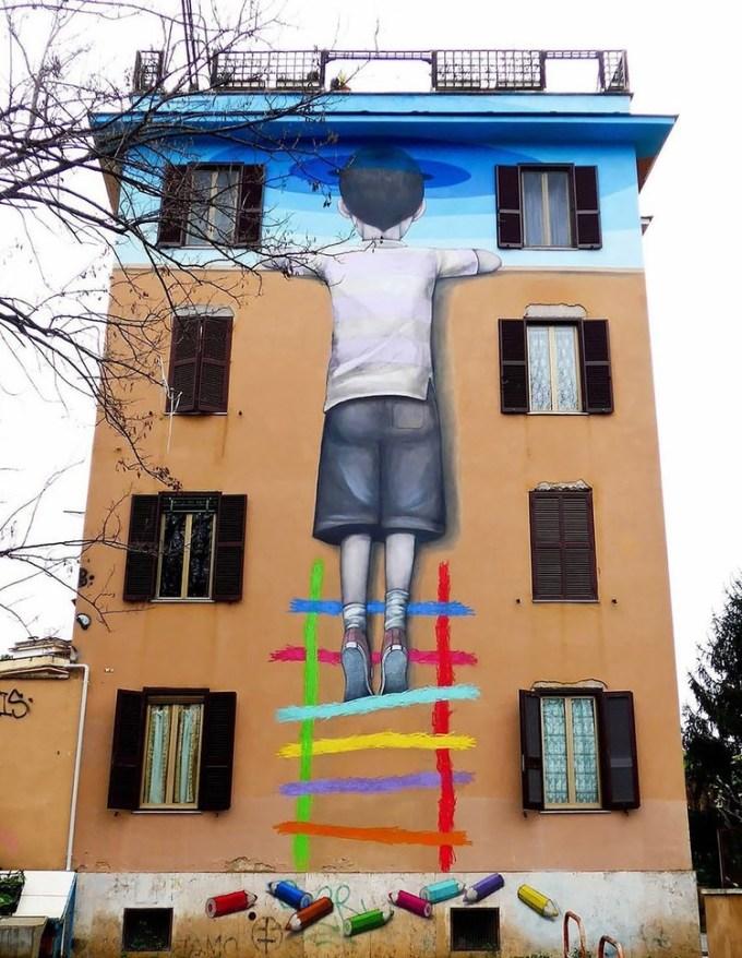 Street Artist Transformed Buildings into Works of Art