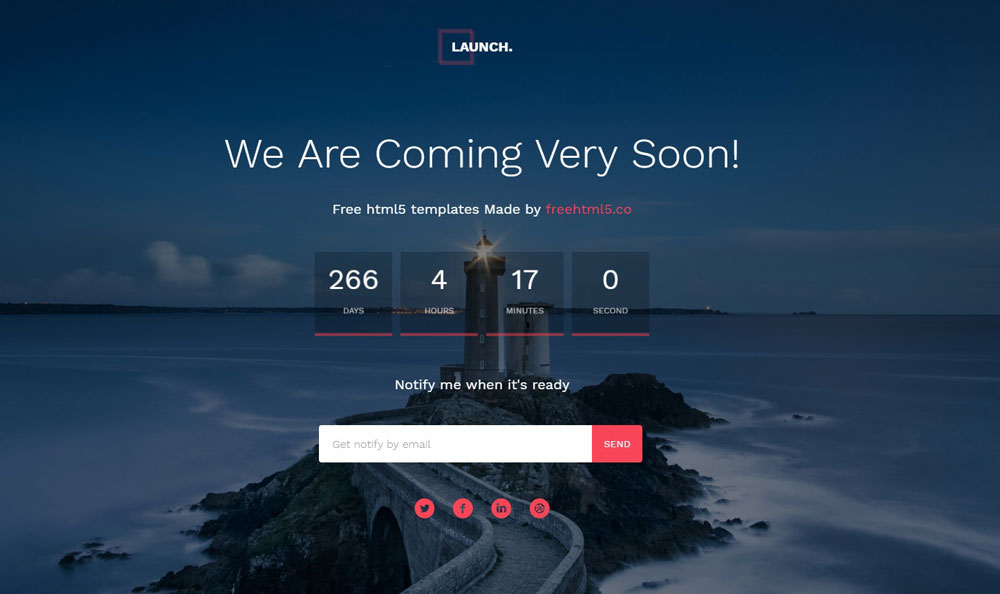 Simple Under Construction Coming Soon HTML Page Free Download