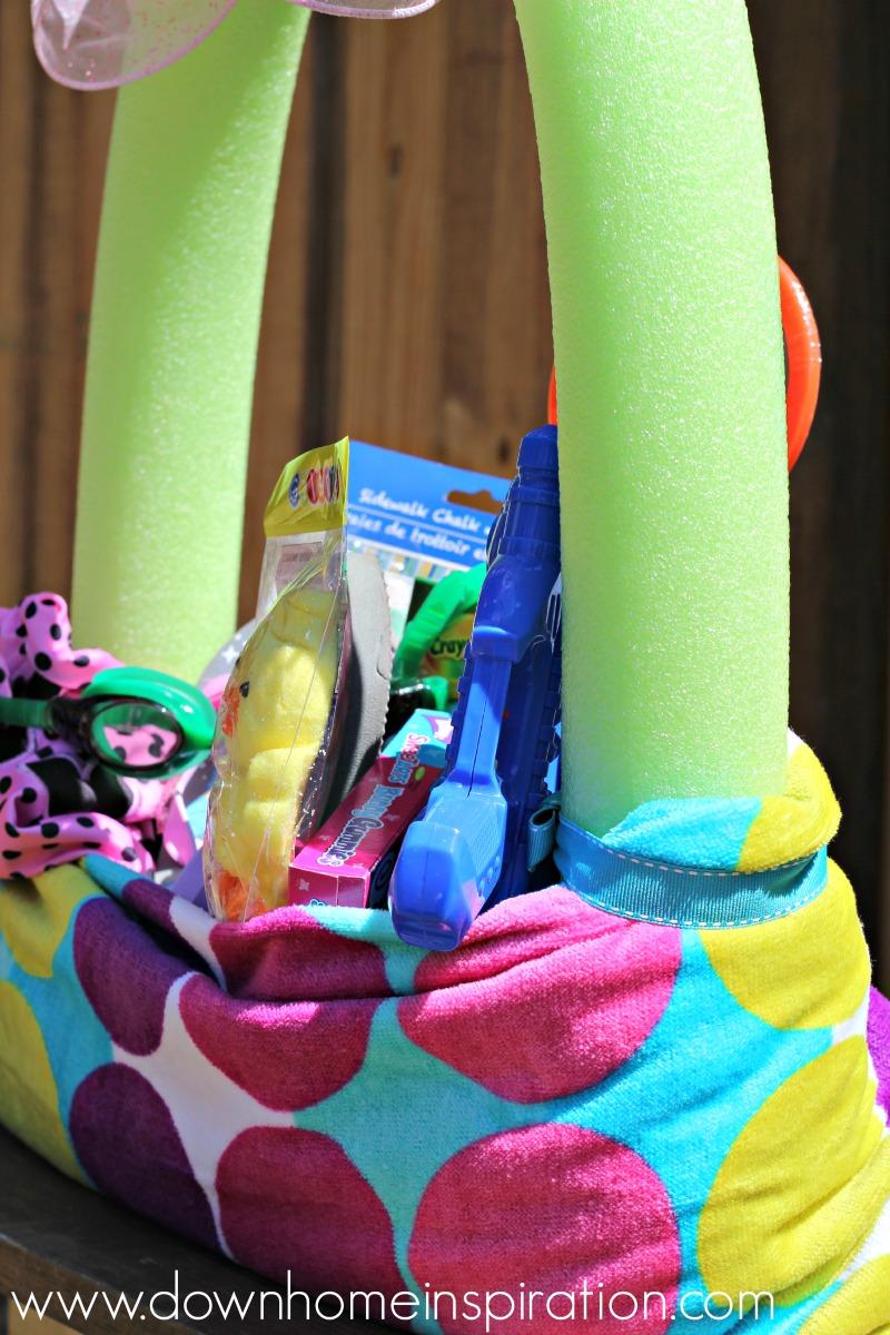 Easter ideas part 3 of 3 real deep stuff - Beach Towel Pool Noodle Easter Basket 4