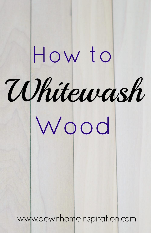 Merveilleux How To Whitewash Wood 1