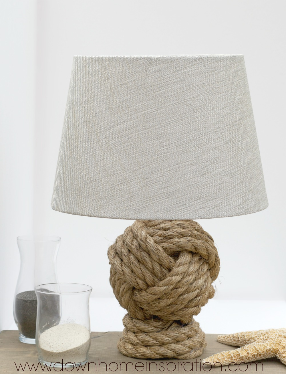 Pottery Barn Knockoff Rope Knot Lamp Down Home Inspiration Wiring A 18
