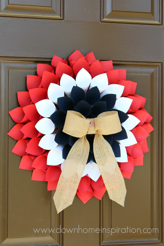 Patriotic paper cone wreath down home inspiration paper cone wreath 4 mightylinksfo