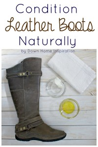 conditioner leather boots naturally