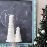 DIY Faux Fur Christmas Trees Made on the Cheap!