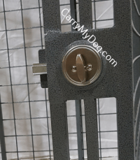 Closeup of Schlage deadbolt used on all Xtreme®crates