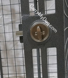 The Schlage Deadbolt is the best way to keep crate doors closed.