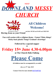 Messy Church 15th June