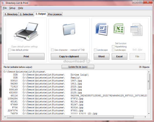 Directory List and Print Pro Serial key v4.06 2