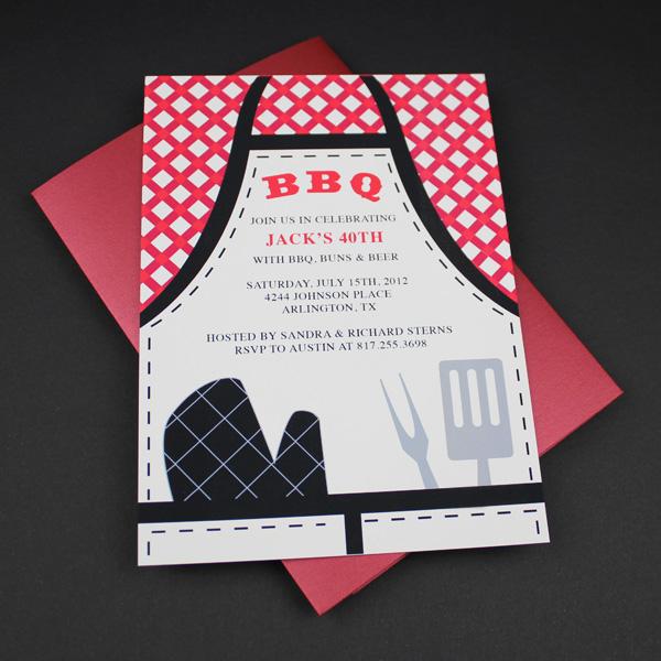 Invitation Template BBQ Apron Invitation Download Amp Print