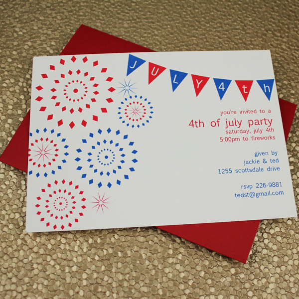 4th Of July Party Invitation Template Download Amp Print