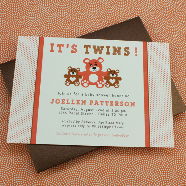 Baby Shower Invitation Template It S Twins Print