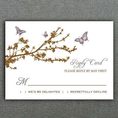 Erfly Branch Rsvp Card Template 1