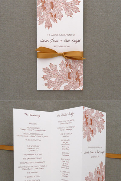 Trifold Cards Wedding Invitations