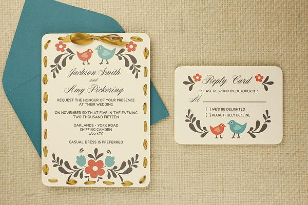 Diy Tutorial Folksy Wedding Invitation With Ribbon Detail