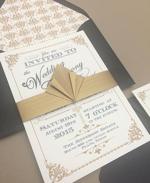 Free Wedding Template Vine Art Deco Style Close
