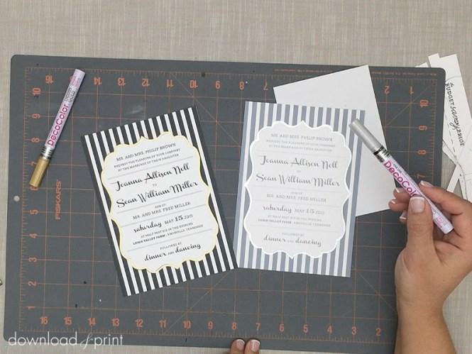 Garden Rose Diy Wedding Invitation Template Bundle In Pink Print