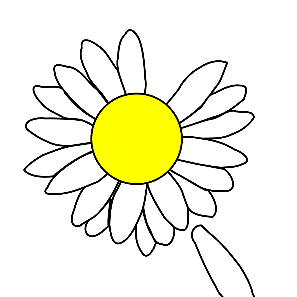 Daisy With Dropped Petal Svg Clip Art For Web