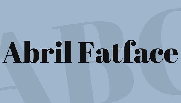 Abril Fatface Font Family Free