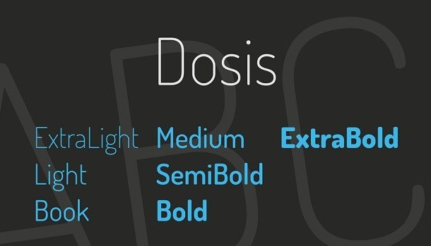 Dosis Font Family Free