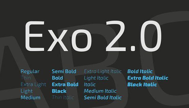 Exo 2 Font Family Free