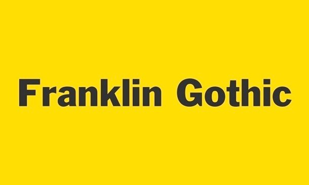 Franklin Gothic Font Free