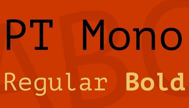 PT Mono Font Free Download
