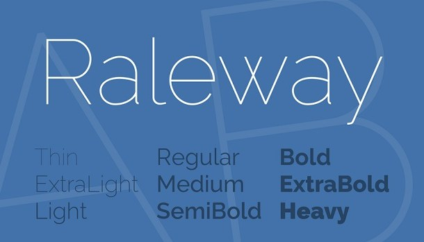 Raleway Font Family Free