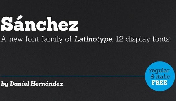 Sanchez Font Free Download
