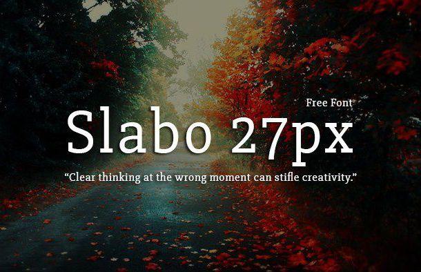Slabo 27px Font Family Free