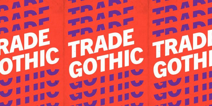 Trade Gothic Light Font Free
