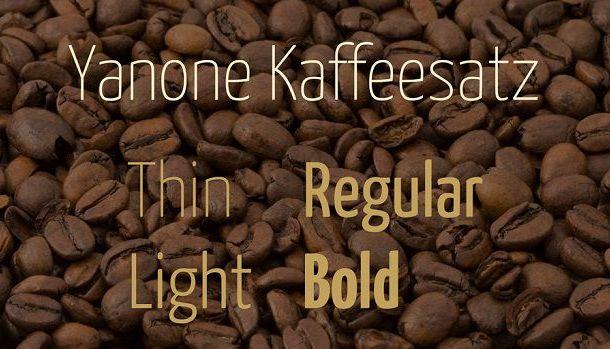 Yanone Kaffeesatz Font Family Free