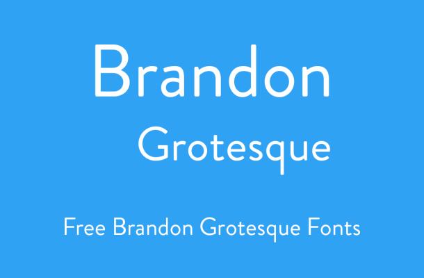 brandon grotesque font