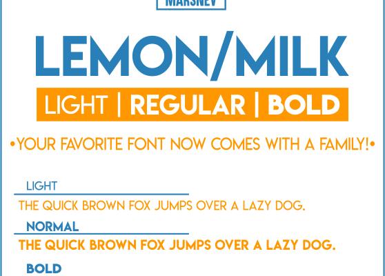 Lemon/Milk Font Family Free