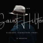 Saint Hilton Signature Font