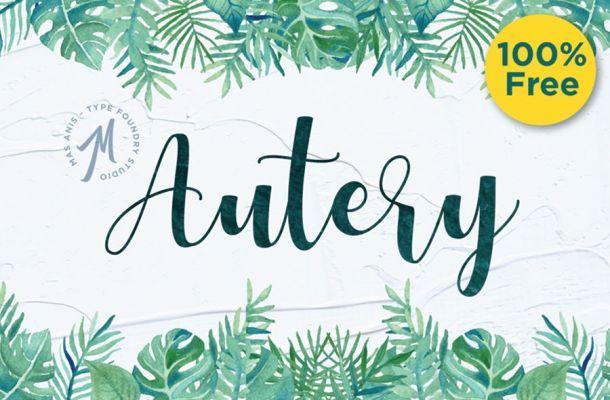 Autery Script Font