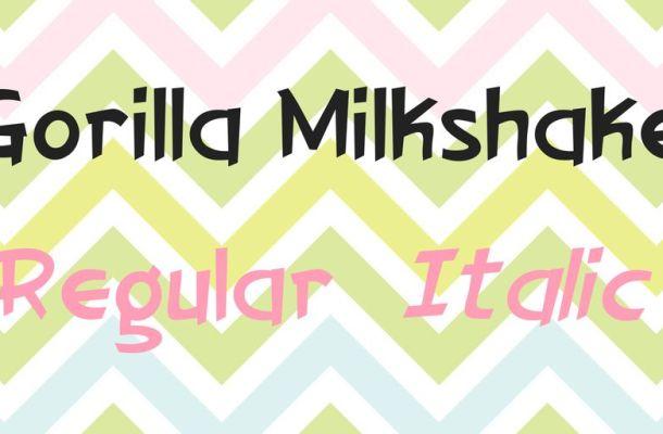 Gorilla Milkshake Font Family