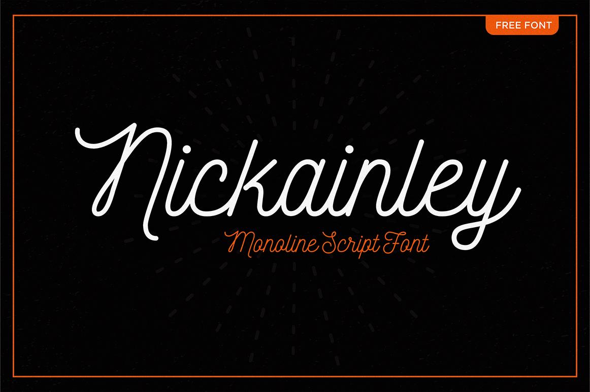 nickainley-script-free-font
