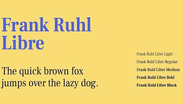 Frank Ruhl Libre Font Family