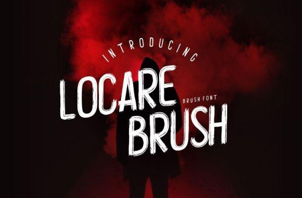 Locare Brush Font